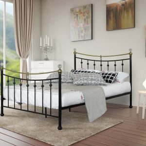Aiden Metal Crystal Bed-0
