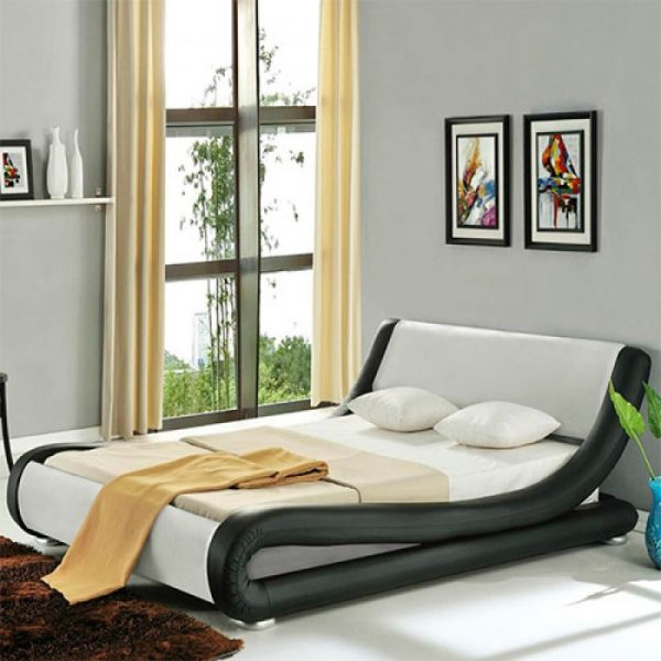 Volo Italian Modern Leather Bed-1754